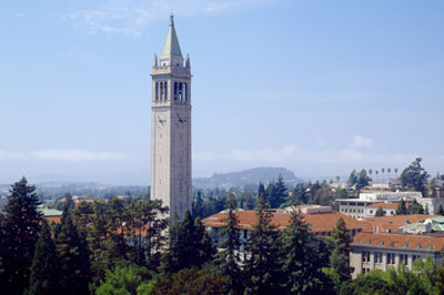 UC Berkeley Campanile. Photo by Alan Nyiri, Atkinson Photographic Archive.